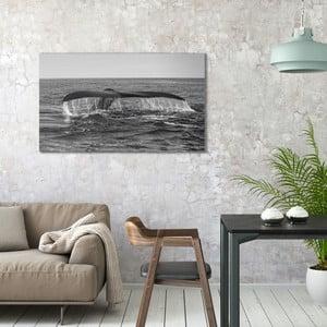Obraz na plátne OrangeWallz Whale, 70 x 118 cm