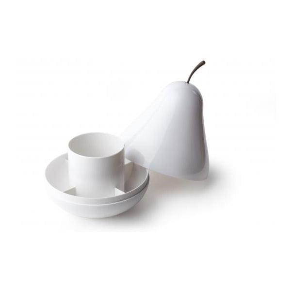 Multifunkčná misa s vrchnákom QUALY Pear Pod, bílá