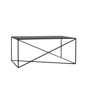 Čierny konferenčný stolík Custom Form Memo, šírka 100 cm