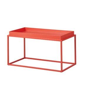 Oranžový kovový konferenčný stolík Intersil Club NY
