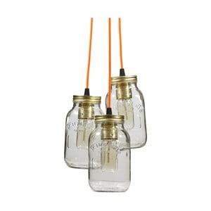 Závesné svetlo JamJar Lights, tri oranžové káble