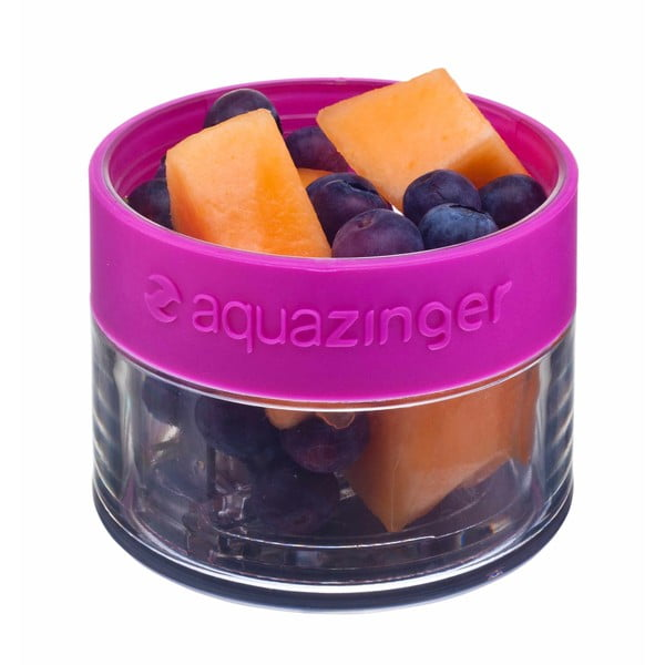 Modrá fľaša na vodu a ovoce Aquazinger