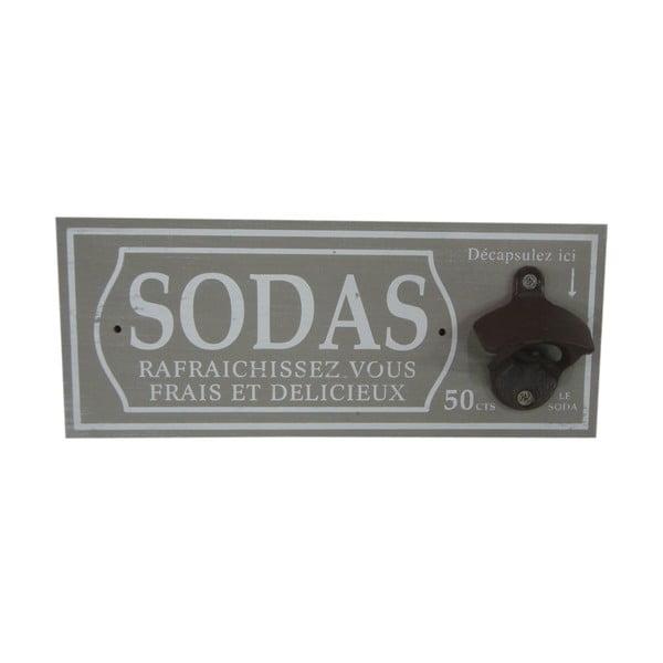 Nástenný otvárač na fľaše Sodas