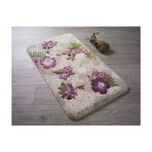 Vzorovaná ružová predložka do kúpeľne Confetti Bathmats Tropical, 80×140cm