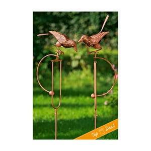 Sada 2 záhradných dekorácií Pendulum Bird