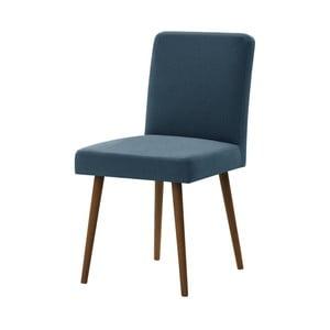 Modrá stolička s tmavohnedými nohami Ted Lapidus Maison Fragrance