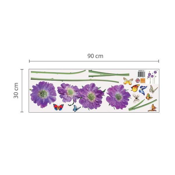 Samolepka na stenu Fialové kvety