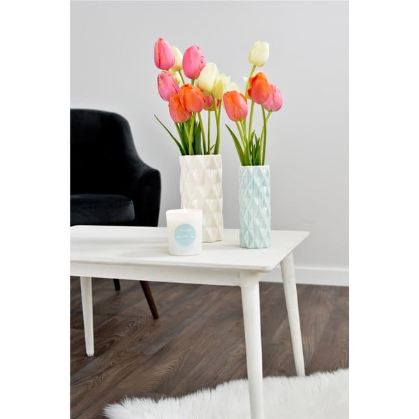 Bielo-mentolová váza Hawke&Thorn, výška 22cm