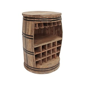 Vinotéka z mangového dreva Canett Barrel