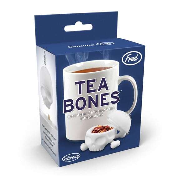 Biele sitko na čaj Fred & Friends Tea Bones