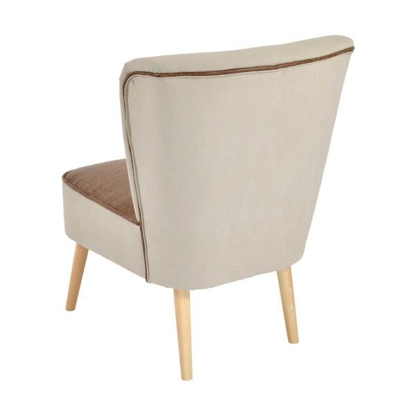Stolička Beige/Brown, 60x65x79 cm
