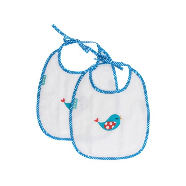 Podbradník Little Birds Blue, 2 ks