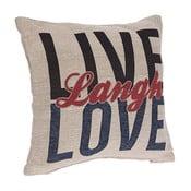 Obliečka na vankúš InArt Live Love, 45×45cm