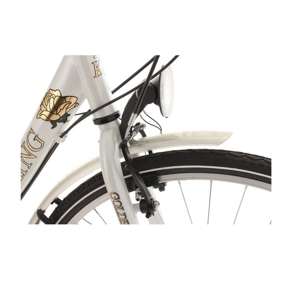 "Dámsky bicykel City Bike Golden Times White 53 cm, 28"""