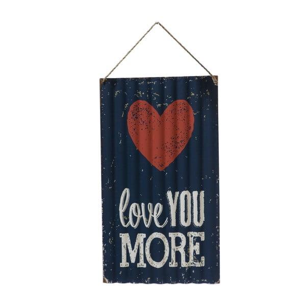 Nástenná ceduľa Novita Love You More, 30 x 50 cm