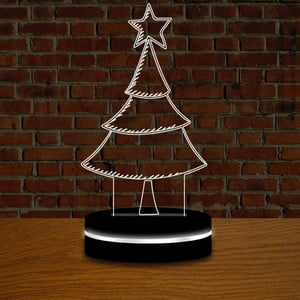 Lampa s 3D efektom Christmas no. 6