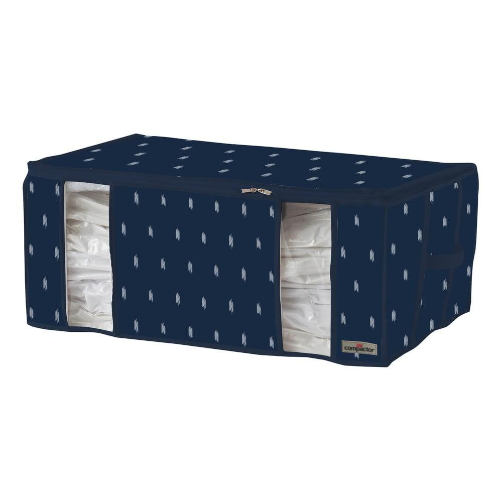 Tamvomodrý úložný box na oblečenie Compactor Kasuri, 210 l