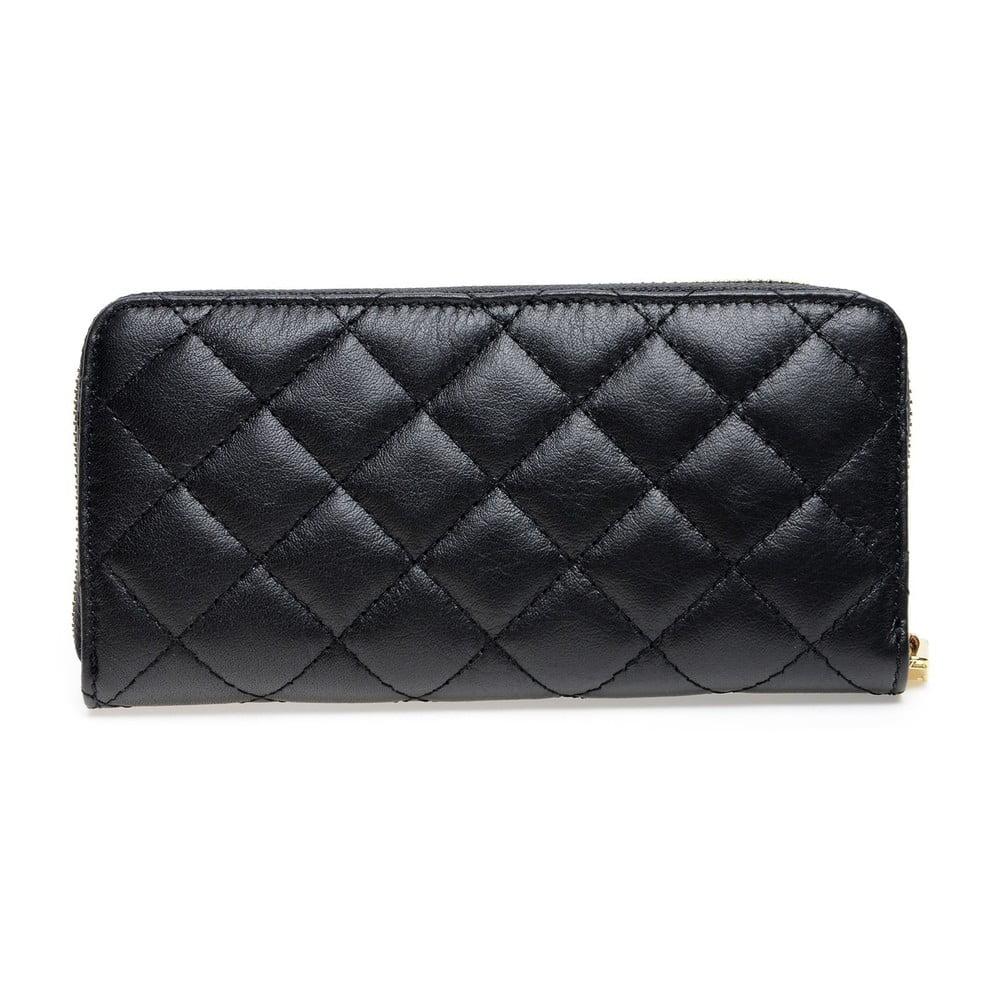 Čierna kožená peňaženka Roberta M Adelina