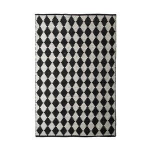 Čierno-biely bavlnený ručne tkaný koberec Pipsa Diamond, 140×200 cm