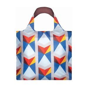 Skladacia nákupná taška skapsičkou LOQITriangles