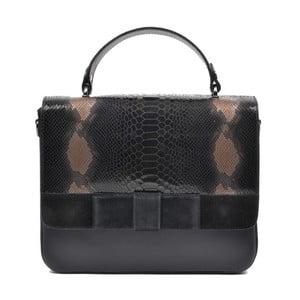 Čierna kožená kabelka Mangotti Hadria