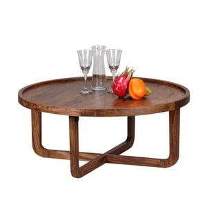 Konferenčný stolík z masívneho sheeshamového dreva Skyport BOHA, ⌀85 cm