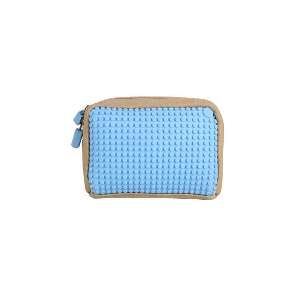 Pixelová taštička, beige/baby blue