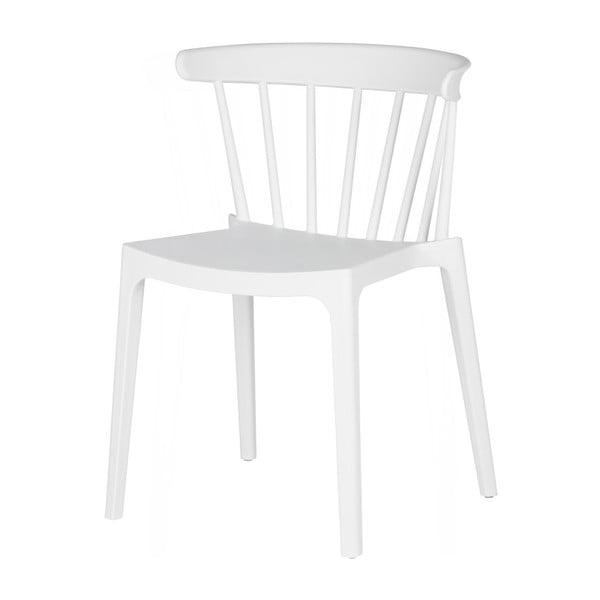 Biela jedálenská stolička WOOOD Bliss