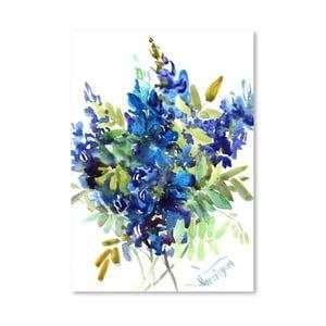 Plagát Blue Flowers od Suren Nersisyan