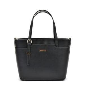 Čierna kožená kabelka Mangotti Bags Avril