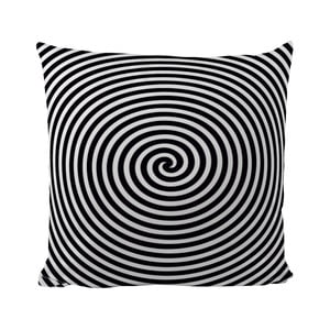 Vankúšik Black Shake Circle Hypnosis, 50x50 cm