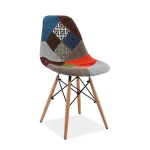 Farebná čalúnená jedálenská stolička Signal Simon Patchwork