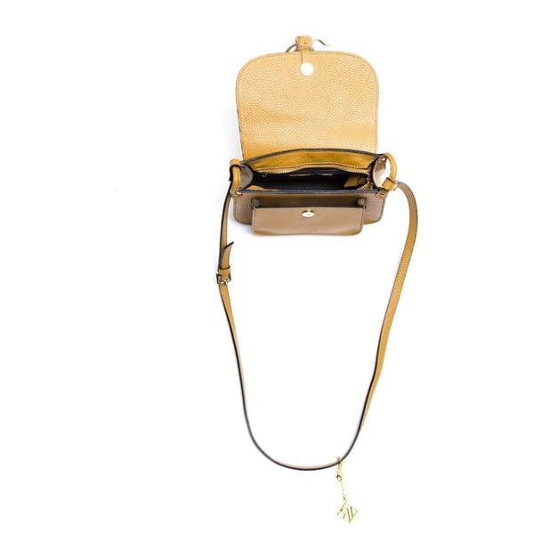 Kožená kabelka Ellie 1155 Cognac