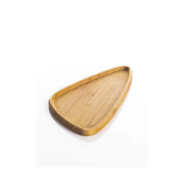 Bambusový servírovací tanier Bambum Viego Triangle S