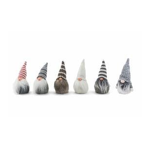 Sada 6 vianočných dekoratívnych sošiek Villa d'Este Troll Mini Gabbo