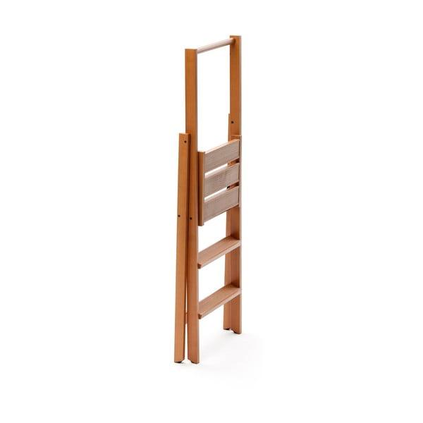 Skladacie schodíky z bukového dreva Arredamenti Italia Kimmora, výška 116 cm