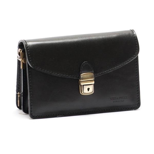 Kožená kabelka Mangotti 3041, čierna
