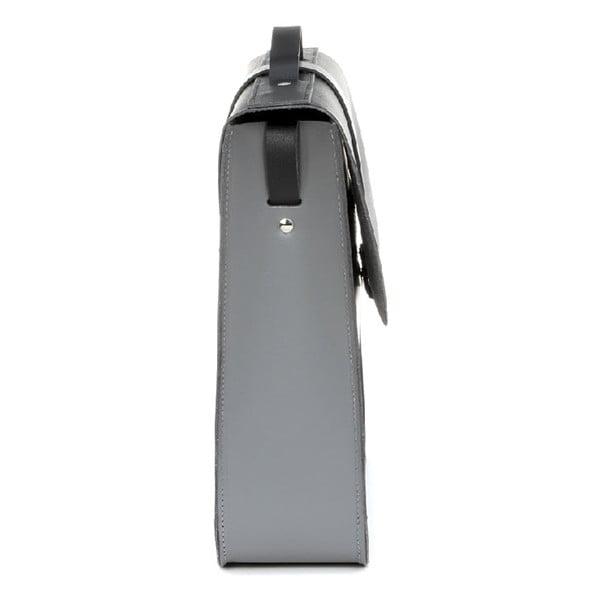 Kožená kabelka Top Handle Grey