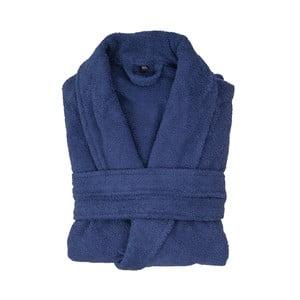 Námornícky modrý bavlnený župan Casa Di Bassi, veľkosť XS/S
