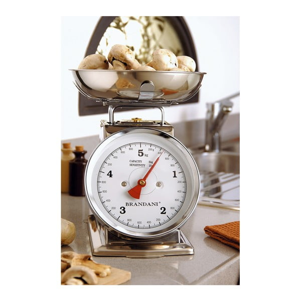 Nehrdzavejúca kuchynská váha Brandani s nosnosťou 5 kg
