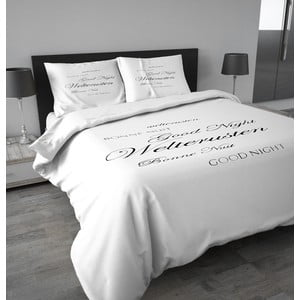 Flanelové obliečky Good Night 140x200 cm, biele