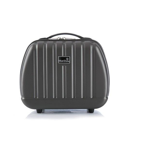 Sivý cestovný kufor s príručnou batožinou Blue Star Prague, 47 l