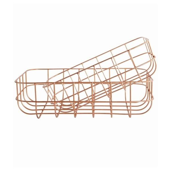 Sada 2 košíkov Simply Copper S