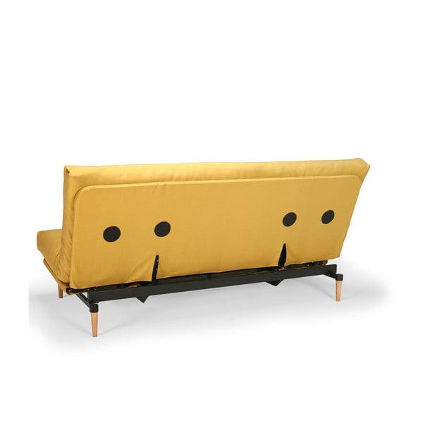 Žltá rozkladacia pohovka Innovation Colpus