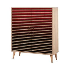 Variabilná štvordverová komoda Multilux Red Classic, 111×95 cm