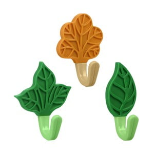 Sada 3 farebných samolepiacich háčikov Metaltex Flowers