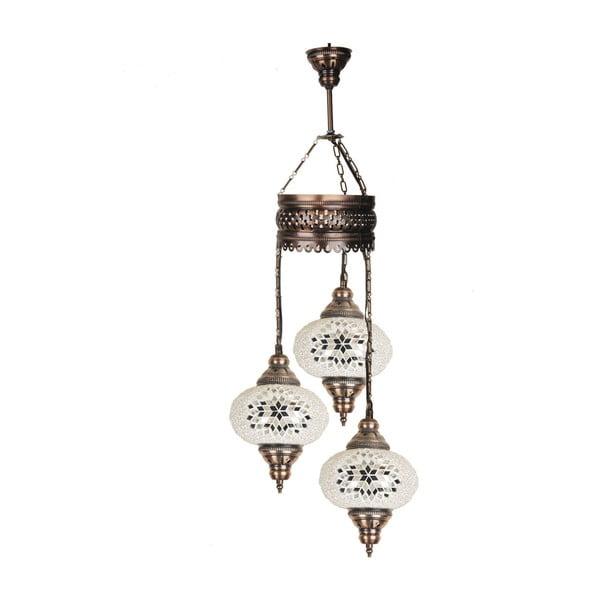 Sklenená závesná lampa Three VI, 17 cm