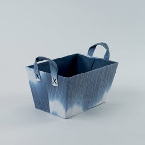 Modrý úložný kôš Compactor Tie And Dye