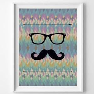 Plagát Le Moustache, A3