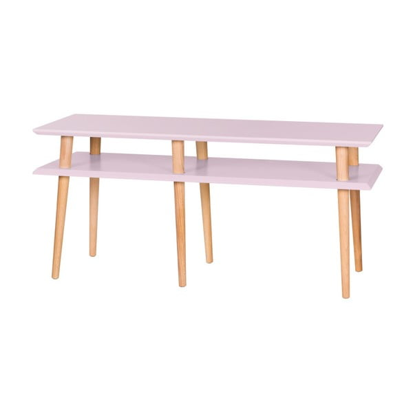 Ružový konferenčný stolík Ragaba Mugo,dĺžka119 cm